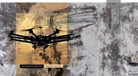 Le drone et la carrière