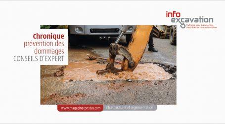 Excavation près des infrastructures souterraines